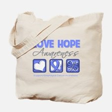 Esophageal Cancer LoveHope Tote Bag