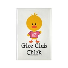Glee Club Chick Rectangle Magnet
