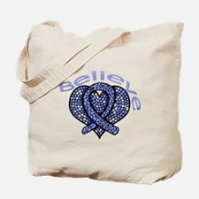 Esophageal Cancer Believe Tote Bag