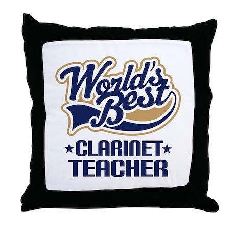 Clarinet Teacher Throw Pillow