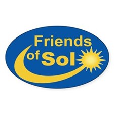Friends of Sol-3x5-Oval Decal