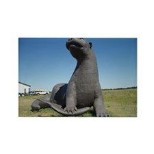 Ottertail Lake MN - Otter Statue Rectangle Magnet