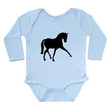 Sidepass Dressage Horse Long Sleeve Infant Bodysui