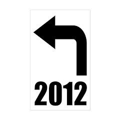 Turn Left 2012 Bumper Decal