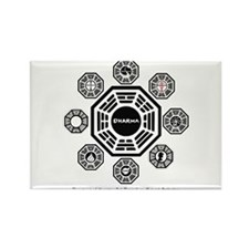 Dharma Stations Rectangle Magnet