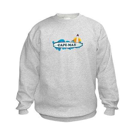 Cape May NJ - Surf Design Kids Sweatshirt