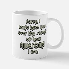 sorryicanthearyougrayblack Mugs