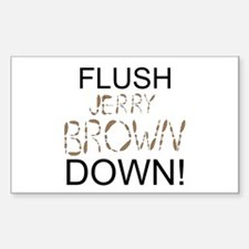 Flush Brown Decal