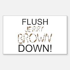 Flush Brown Decal