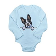 Curious Boston Long Sleeve Infant Bodysuit