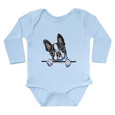 Curious Boston Long Sleeve Infant Bodysuit