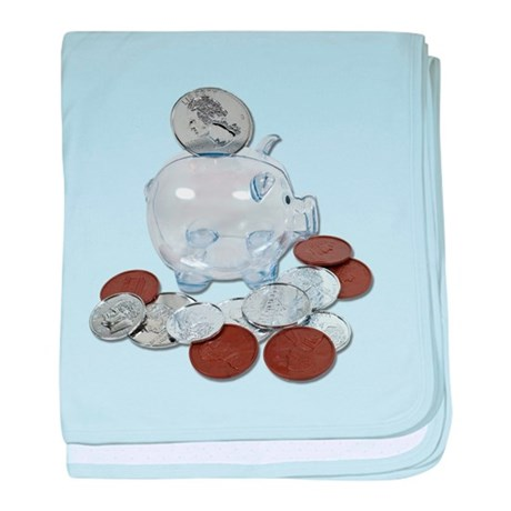 Big Savings Bank baby blanket