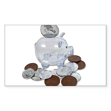 Big Savings Bank Sticker (Rectangle)