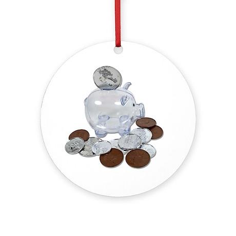 Big Savings Bank Ornament (Round)