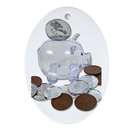 Big Savings Bank Ornament (Oval)
