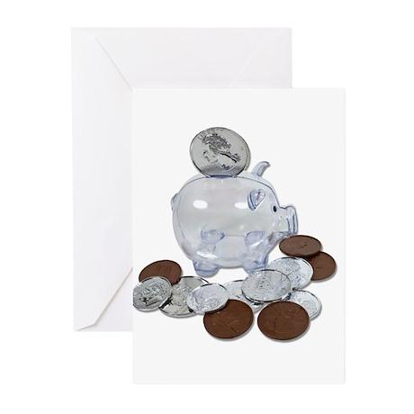 Big Savings Bank Greeting Cards (Pk of 10)