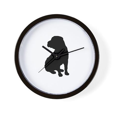 Shar Pei Silhouette Wall Clock