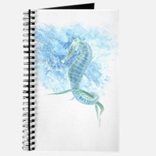 watercolor seahorse Journal
