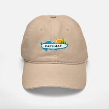 Baseball Baseball Cape May NJ - Surf Design Baseball Baseball Cap
