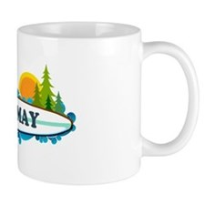 Cape May NJ - Surf Design Mug