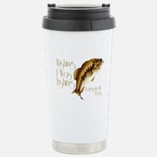 Wishing I Was Fishing Travel Mug