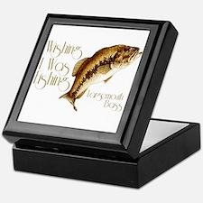 Wishing I Was Fishing Keepsake Box
