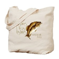 Wishing I Was Fishing Tote Bag