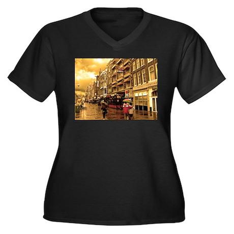 Hotel Row -- Amsterdam Women's Plus Size V-Neck Da