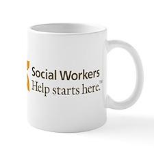 2-HelpStartsHereLogo Mugs