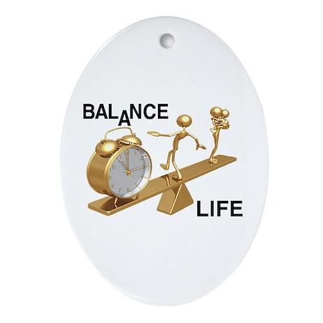 Balance Life Ornament (Oval)