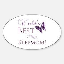 World's Best Stepmom Sticker (Oval)