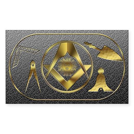 Masonic working tools Rectangle Sticker