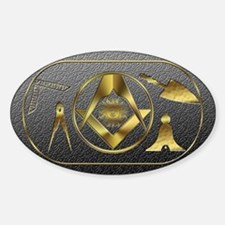 Masonic working tools Oval Decal