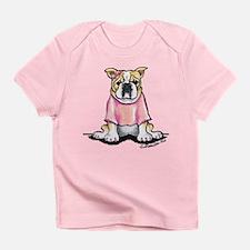 Girly Bulldog Infant T-Shirt