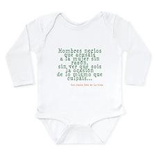 Hombres Necios Long Sleeve Infant Bodysuit