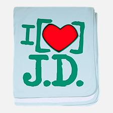 I Heart J.D. Infant Blanket