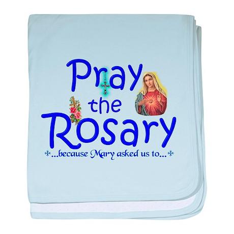 Pray the Rosary - newborn baby blanket (c)