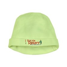 Pray the Rosary - infant baby skull cap / hat (c)