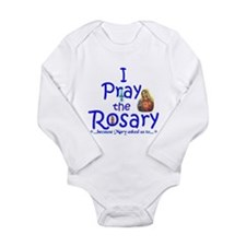 Pray the Rosary - Long Sleeve Infant Bodysuit (b)