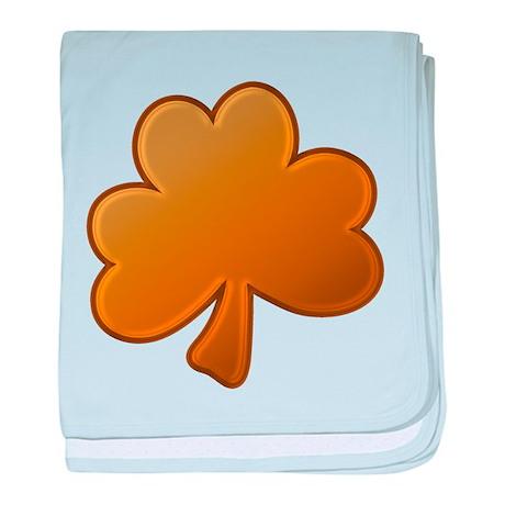 Lucky Orange Clover Infant Blanket