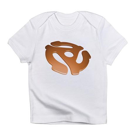 Orange 3D 45 RPM Adapter Infant T-Shirt