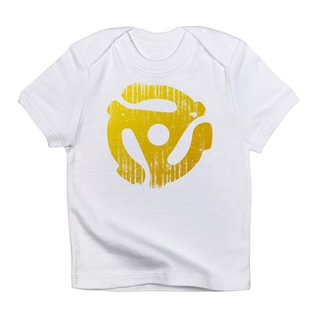 Distressed Yellow 45 RPM Adap Infant T-Shirt