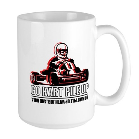 Go Kart Pile Up Large Mug
