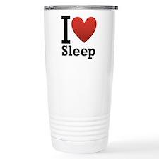 I Love Sleep Travel Coffee Mug