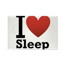 I Love Sleep Rectangle Magnet