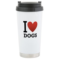 I Love Dogs Travel Mug