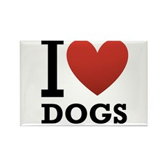 I Love Dogs Rectangle Magnet (100 pack)