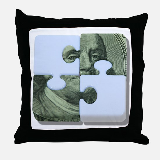 Money Puzzle Throw Pillow