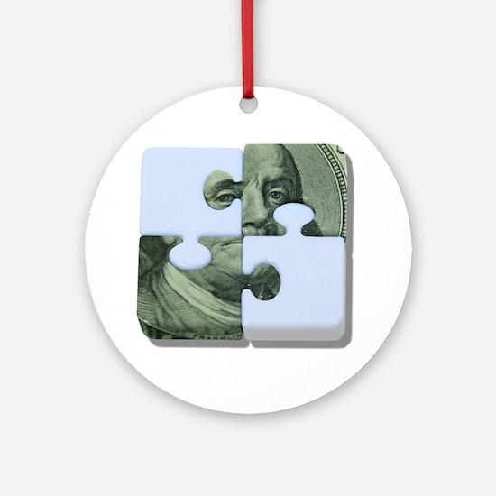 Money Puzzle Ornament (Round)