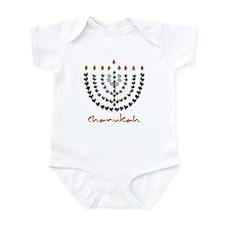 Chanukah Menorah Infant Bodysuit (3 colors)